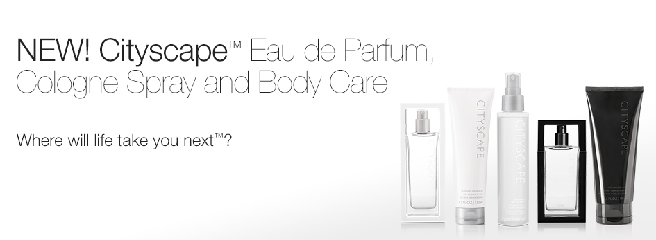 New! Cityscape Eau de Parfum Cologne Spray and Body Care. Where will life take you next?